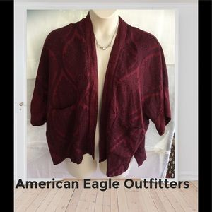 American Eagle outfitters Burgundy jacket OSFM